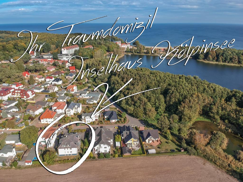 Inselhaus Kölpinsee Appartement 02 in Kölpinsee. Luftaufnahme
